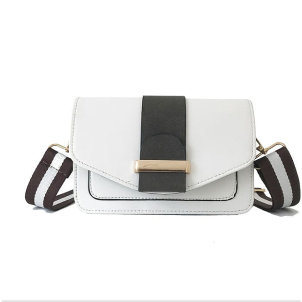 Contrast Colour Handbag - White - Handbag Footsylicious