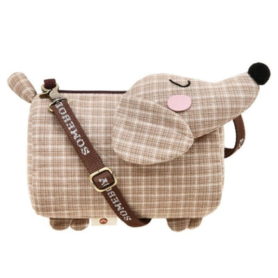 Dachshund Dog Crossbody Shoulder Bag - Brown - Handbag Footsylicious