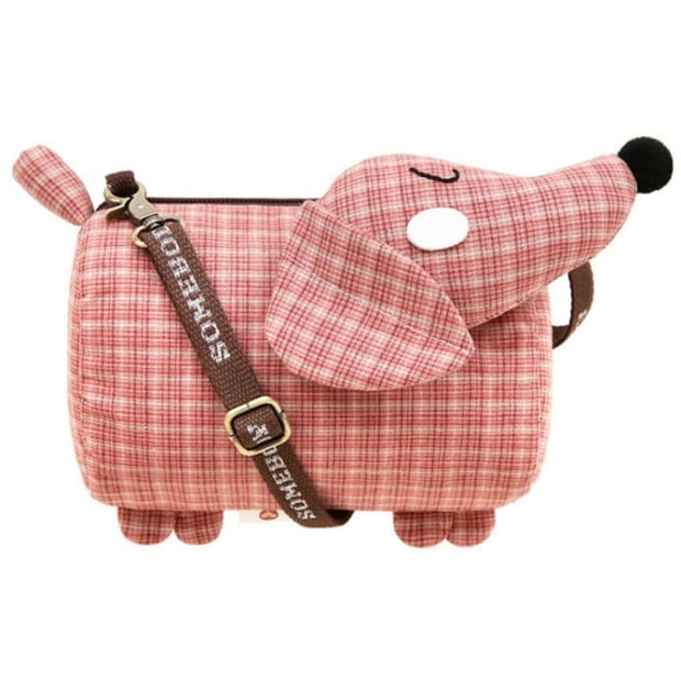Dachshund Dog Crossbody Shoulder Bag - Red - Handbag Footsylicious