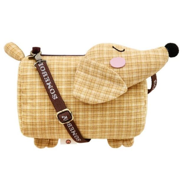 Dachshund Dog Crossbody Shoulder Bag - Yellow - Handbag Footsylicious
