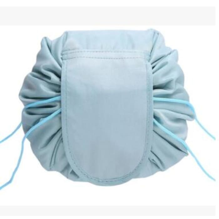 Drawstring Lazy Cosmetic Storage Bag - Grayblue - Health & Beauty Hair / Makeup / Makeup Brushes Footsylicious