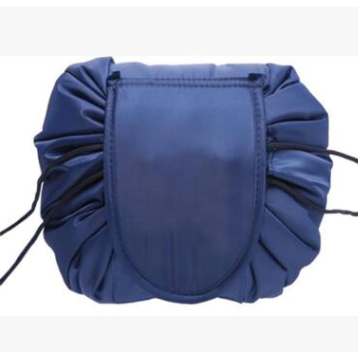 Drawstring Lazy Cosmetic Storage Bag - Navy - Health & Beauty Hair / Makeup / Makeup Brushes Footsylicious
