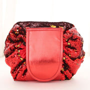 Drawstring Lazy Cosmetic Storage Bag - Sequins red - Health & Beauty Hair / Makeup / Makeup Brushes Footsylicious