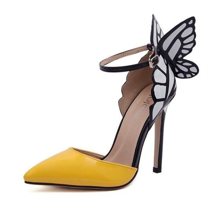Dreamy Butterfly Ankle Strap High Heels - Shoes Footsylicious