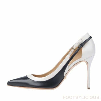 Eko Monochrome Heel Shoes - Black/White / UK4 - Footsylicious