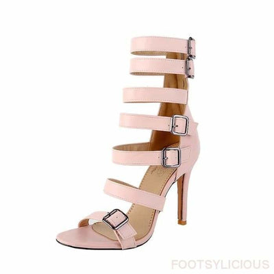 Eris Gladiator Sandals - Pink / UK2.5 - Footsylicious
