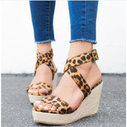 Espadrille Platform Wedge Sandals - UK5.5 / Brown - Wedges Footsylicious