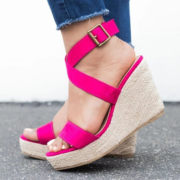 Espadrille Platform Wedge Sandals - Wedges Footsylicious
