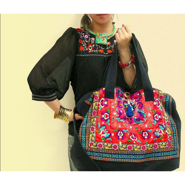 Ethnic Embroidery Shoulder Bag - Handbag Footsylicious