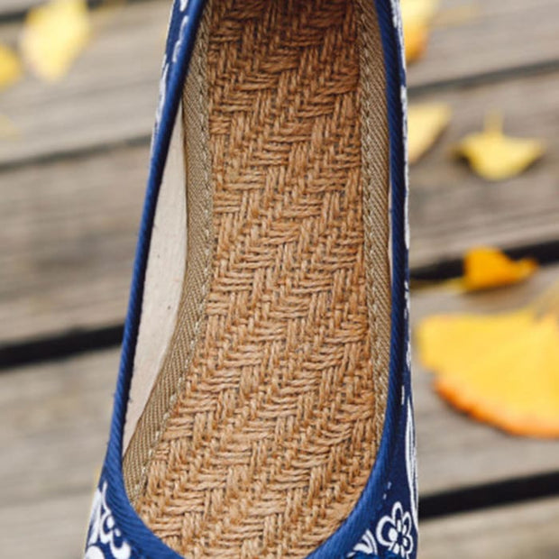 Ethnic Round Toe Flat Shoes - Footsylicious