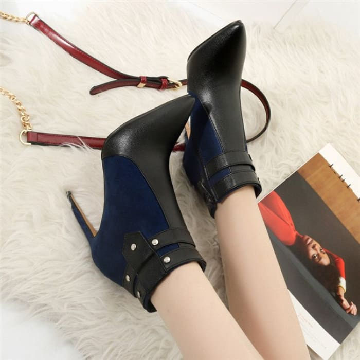 Fashion Retro Buckle Strap Ankle Boots - Shoes Footsylicious