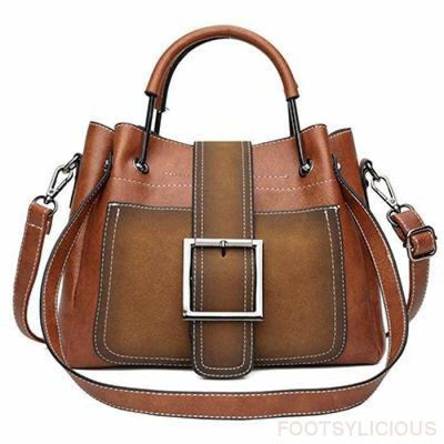 Hann Handbag - Brown - Handbag Footsylicious