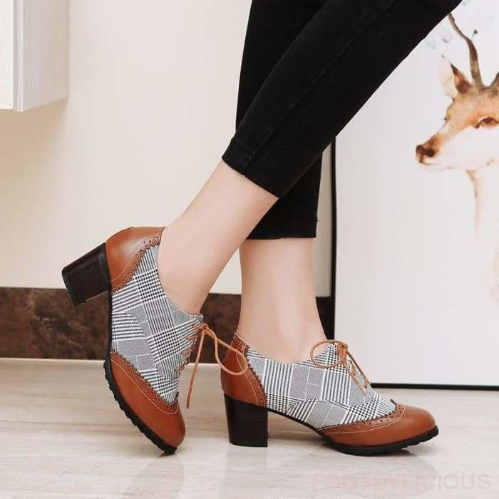 Kay Retro Style Brogues - Shoes Footsylicious