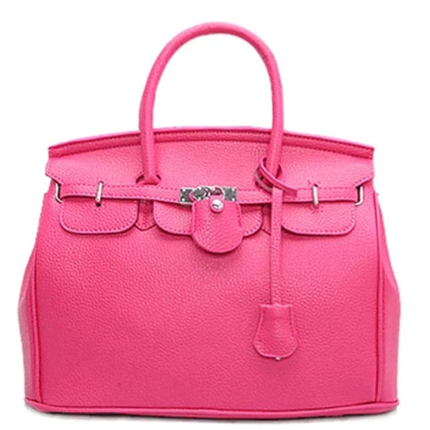 Key Padlock Handbag with Scarf on Handle - Handbag Footsylicious