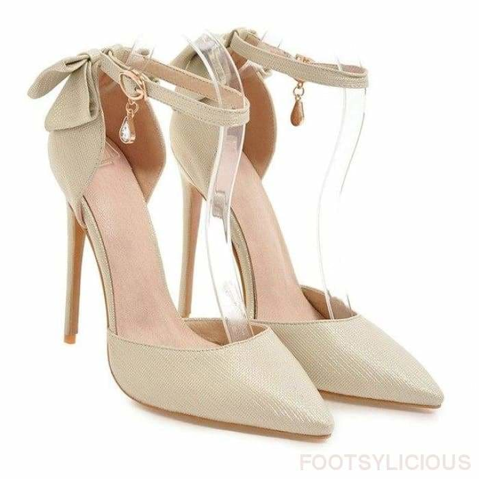 Lady Stiletto Pumps - Gold / UK6.5 - Shoes Footsylicious