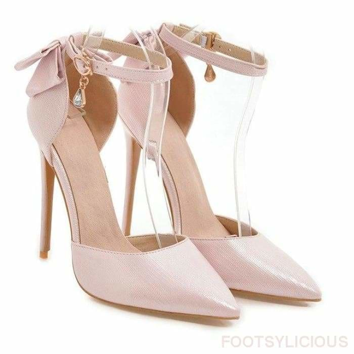 Lady Stiletto Pumps - Pink / UK6.5 - Shoes Footsylicious