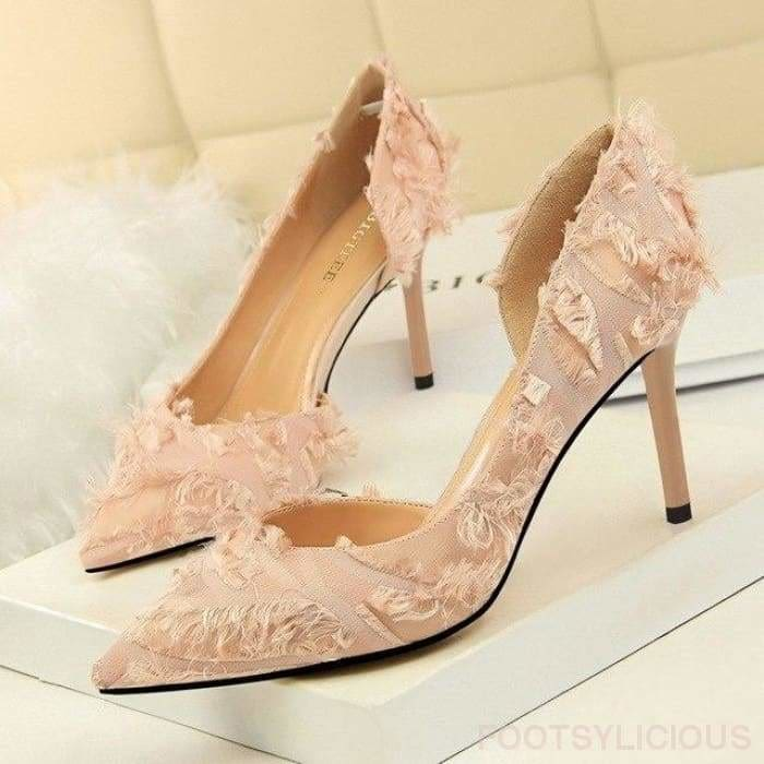 Lily High Heel Pumps - Pink / UK3 - Shoes Footsylicious