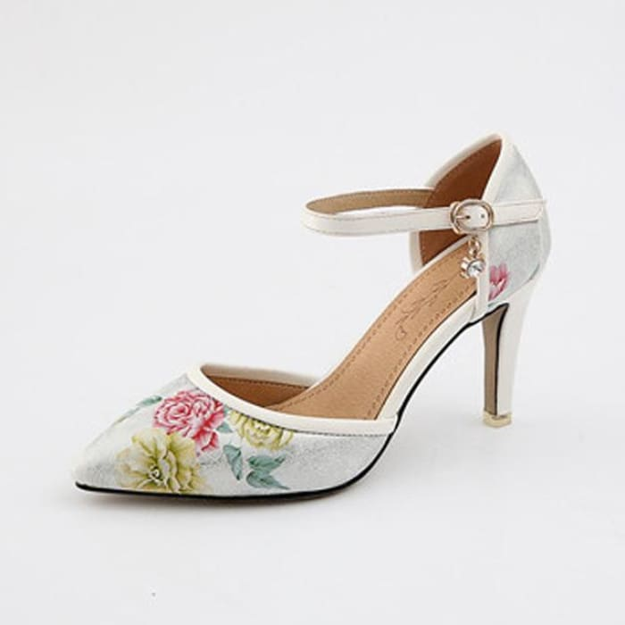 Mary Jane High Heel Pumps - White / UK8 - Shoes Footsylicious