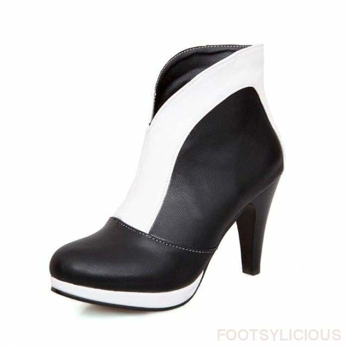 Miley Ankle Boots - White / UK2.5 - Ankle Boots Footsylicious