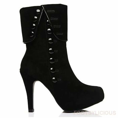 Nekkie Ankle Boots - Black / UK3.5 - Footsylicious