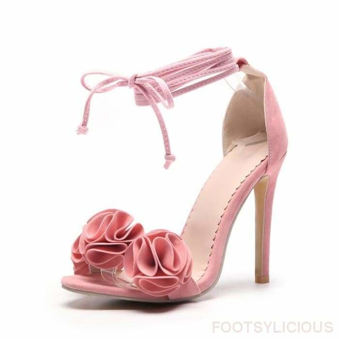 Ngo Ruffles High Heel Sandals - Pink / UK11 - Footsylicious