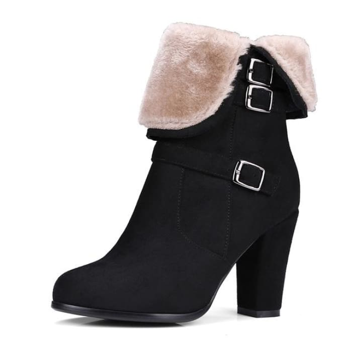 Plush Ankle Boots - Black / UK3 - Footsylicious