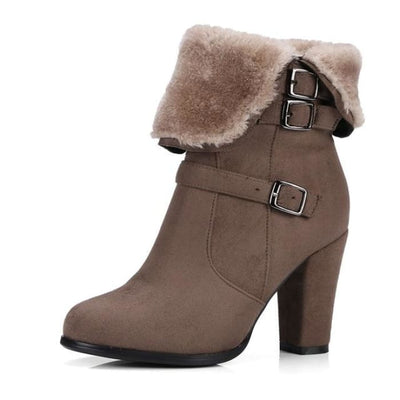 Plush Ankle Boots - khaki / UK3 - Footsylicious