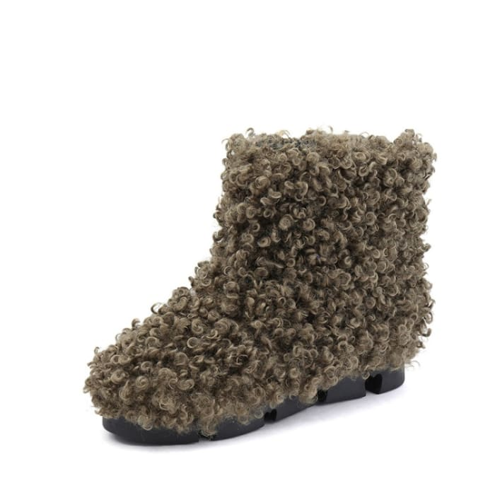 Pretty Poodle Snow Boots - Green / UK5 - Ankle Boots Footsylicious