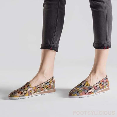 Puzzle Slip On - Flat Shoes Footsylicious