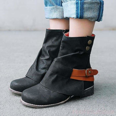 Rena Cowboy Boots - Ankle Boots Footsylicious