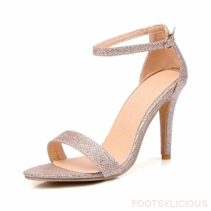 Riley Ankle Strap Sandals - Gold / UK2.5 - Footsylicious