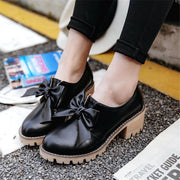 Round Toe Square Heel Boots - Flat Shoes Footsylicious