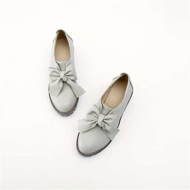 Round Toe Square Heel Boots - Gray / UK3 - Flat Shoes Footsylicious