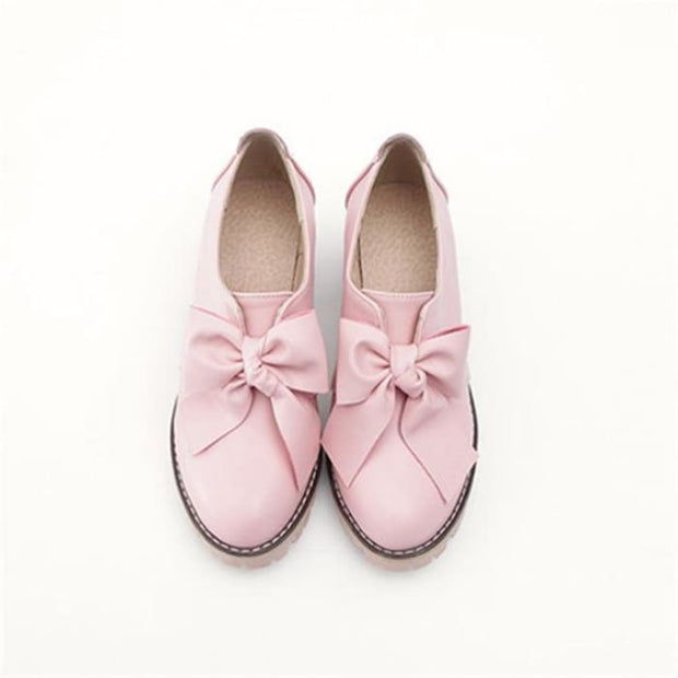 Round Toe Square Heel Boots - Pink / UK3 - Flat Shoes Footsylicious