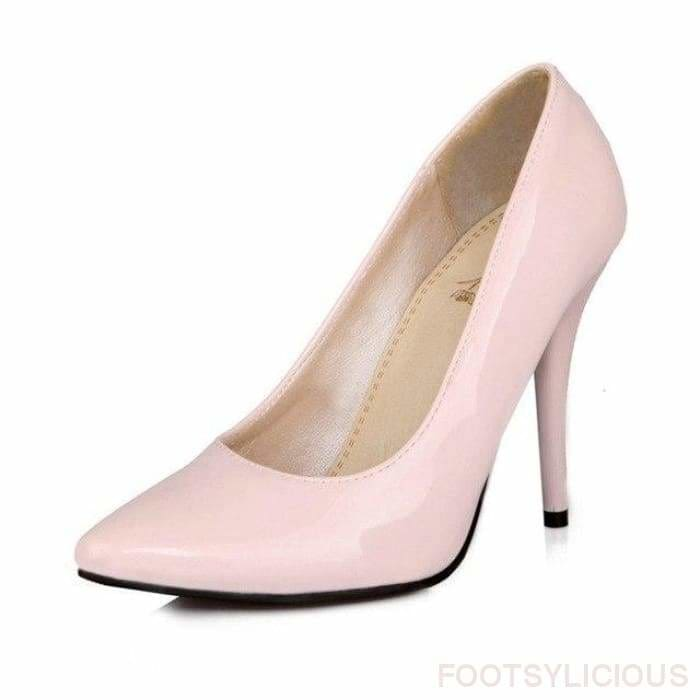 Salma Patent Pumps - Pink / UK8 - Shoes Footsylicious