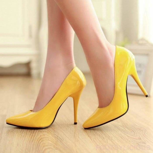 Salma Patent Pumps - Shoes Footsylicious
