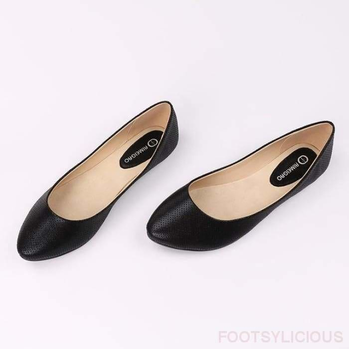 Sara Flat Slip On - Black / UK4.5 - Delivered within 2 - 3 weeks - Flat Shoes Footsylicious