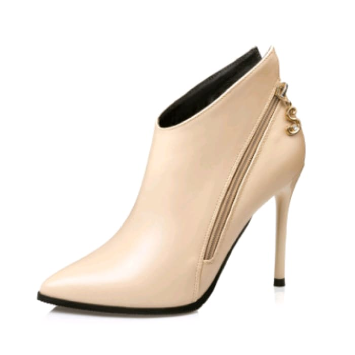 Sexy Party Ankle Boots - Apricot / UK5 - Shoes Footsylicious
