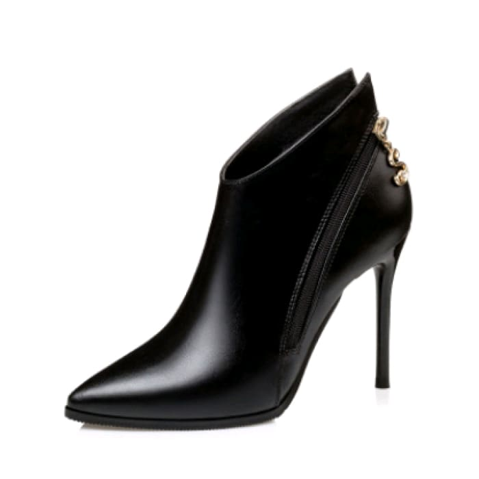 Sexy Party Ankle Boots - Black / UK4 - Shoes Footsylicious