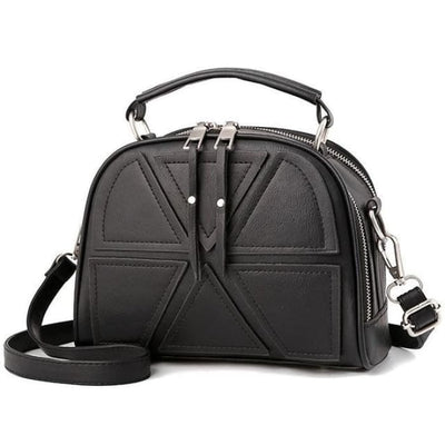 Solid Crossbody Bag - Black - Handbag Footsylicious