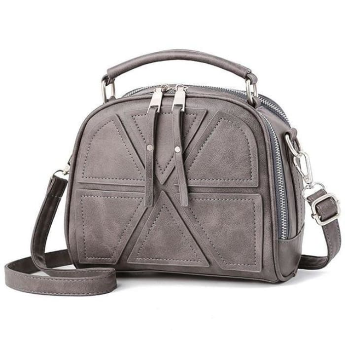 Solid Crossbody Bag - Gray - Handbag Footsylicious