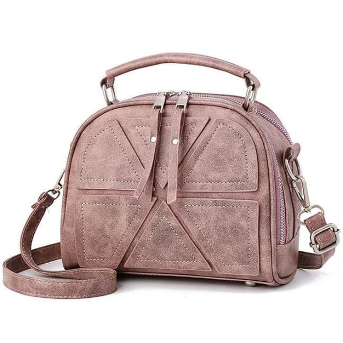 Solid Crossbody Bag - Pink - Handbag Footsylicious