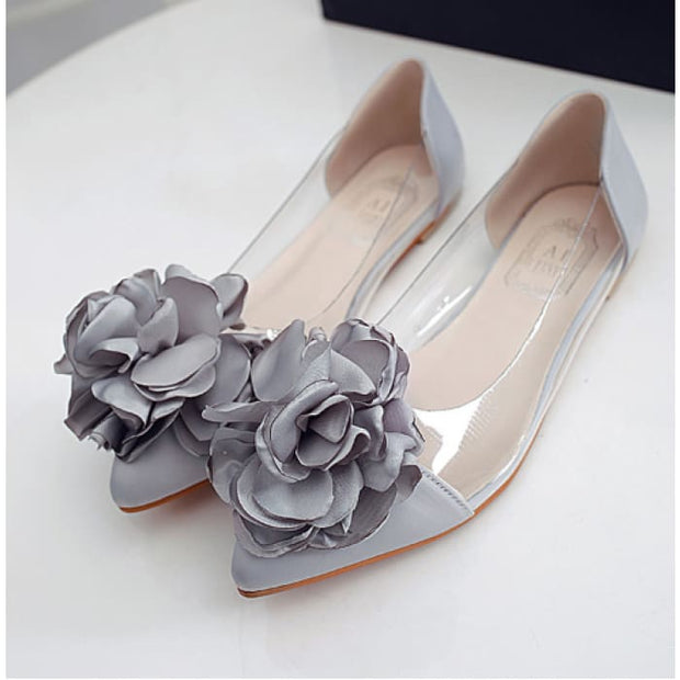 Sweet Flora Ballerina Flats - Gray / UK5.5 - Shoes Footsylicious