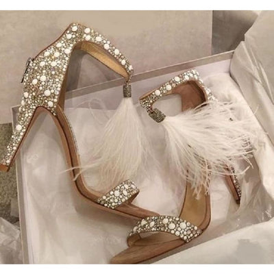 Tassel High Heel Sandals - Shoes Footsylicious