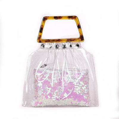 Transparent Sequin Bag - Handbag Footsylicious