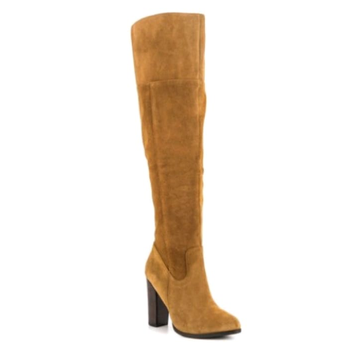 Trendy Knee-High Suede Boots - Brown / UK6 - Knee High Boots Footsylicious