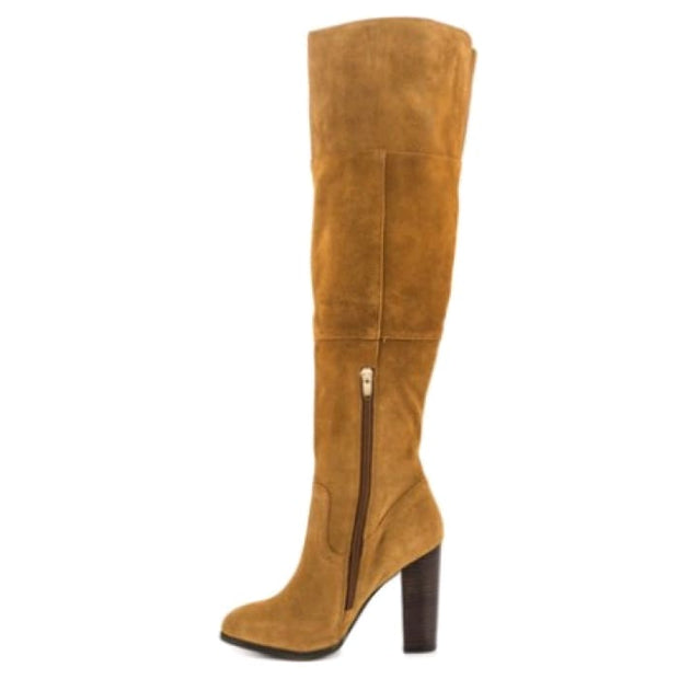 Trendy Knee-High Suede Boots - Knee High Boots Footsylicious