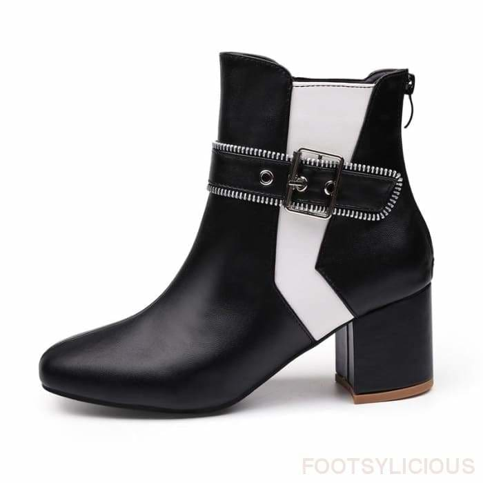 Uche Ankle Boots - Black / UK4 - Delivered within 2 - 3 weeks - Footsylicious