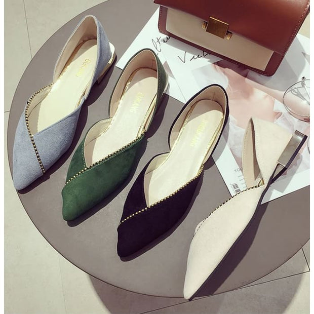 Unique Overlap DOrsay Flats - Flat Shoes Footsylicious