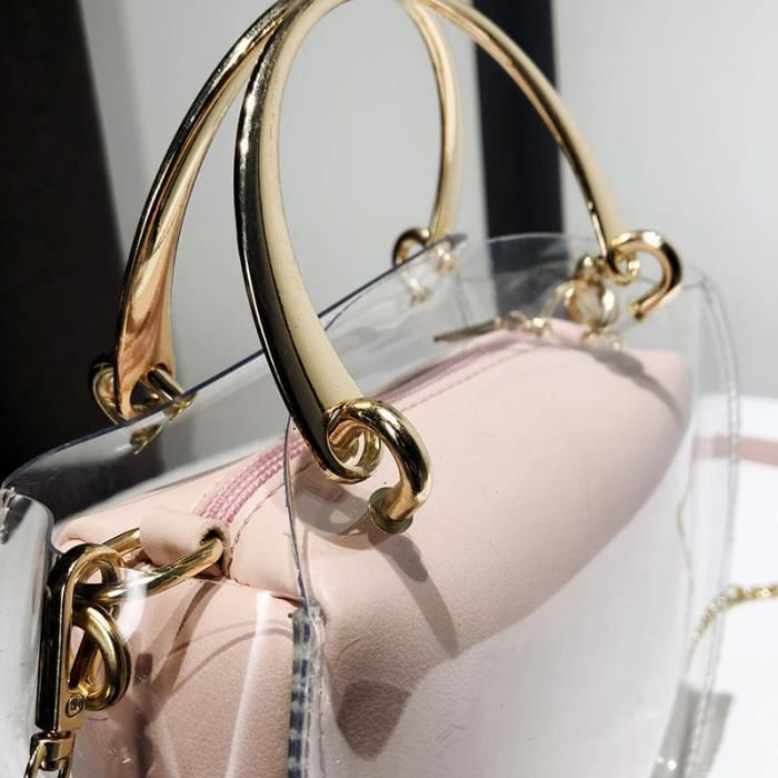 Unique Transparent Bag-in-Bag Set - Handbag Footsylicious